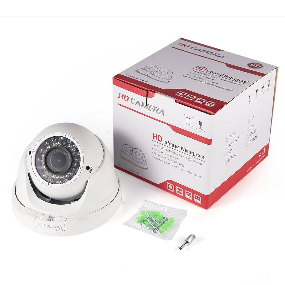"""Westshine 1080P Dome C/ámara Exterior de Vigilancia CCTV Domo C/ámara de Seguridad HD 1//2.7/"""" CMOS 2.8-12mm Gran Angular Lente 36 Leds Infrarrojos 100ft Visi/ón Nocturna"""