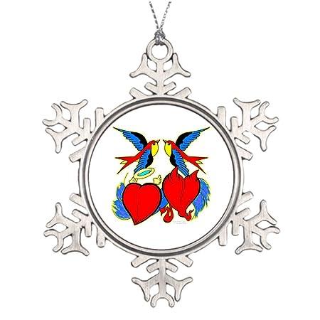 VinMea árbol Rama decoración ángel Diablo corazón Golondrinas ...