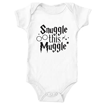 53fee8ec1 Image Unavailable. Image not available for. Color: Tickled Teal Snuggle  this Muggle Baby Onesie ...