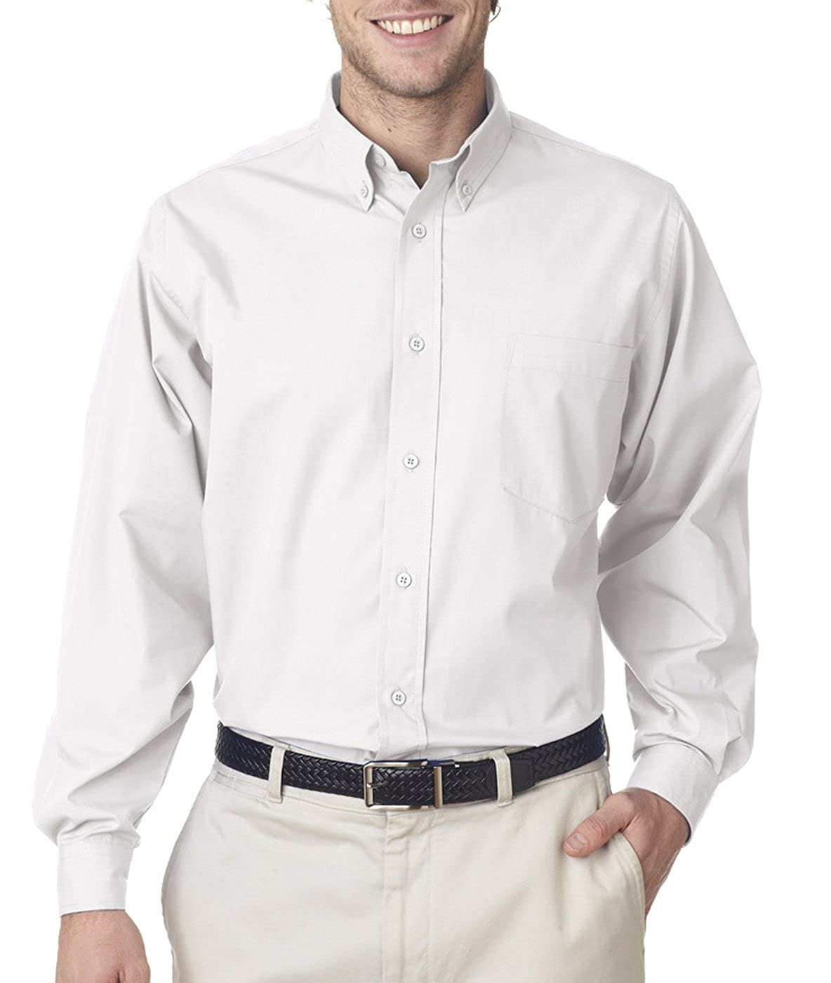 UltraClub 8355 Mens Easy-Care Broadcloth Button Down Shirt