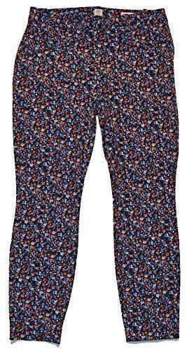 Gap Women Pants - GAP Womens Navy Floral Curvy Skinny Ankle Pants 16