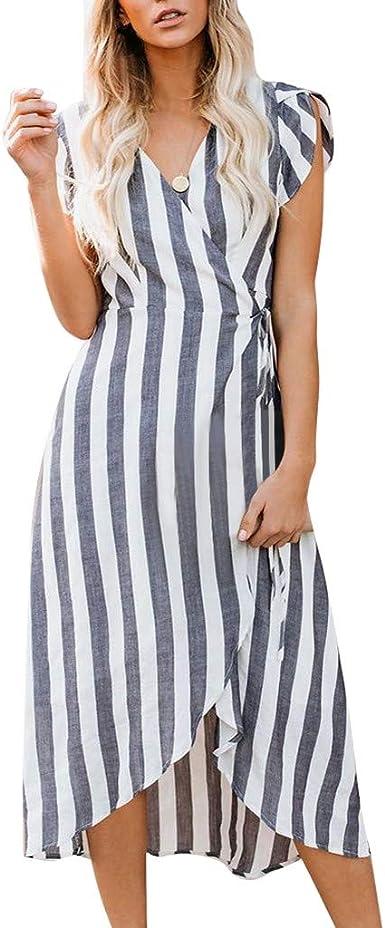 Women/'s Low Back Long Boho Sundress Summer Holiday Beach Strappy Maxi Midi Dress