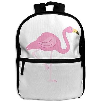 Hojjp Child Girl Flamingo Clipart Patterns Printed Backpack School