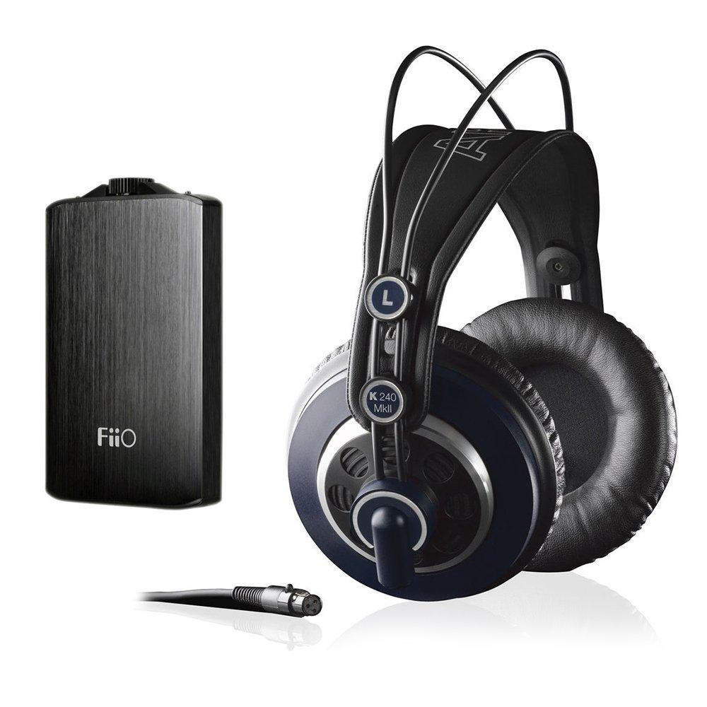 AKG K 240 MK II Professional Semi-Open Stereo Headphones with FiiO A3 Portable Headphone Amplifier