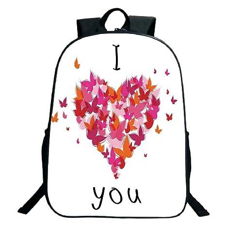 0c9614079f9e Amazon.com: 3D Print Design Black School Bag,backpacksLove Decor ...