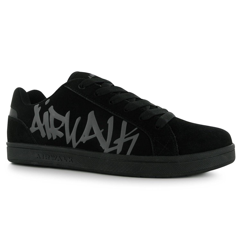 Airwalk Neptune Skate Shoes Mens Black Casual Trainers Sneakers (UK8) (EU42)
