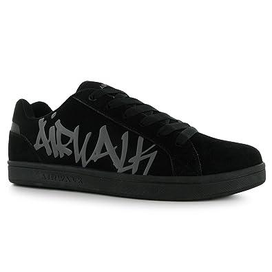 3e852dd411 Airwalk Neptune Skate Shoes Mens Black Casual Trainers Sneakers (UK7) (EU41)