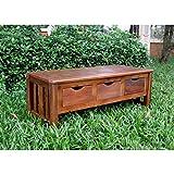 International Caravan VF-4128-IC Furniture Piece 3-Drawer Bench without Back