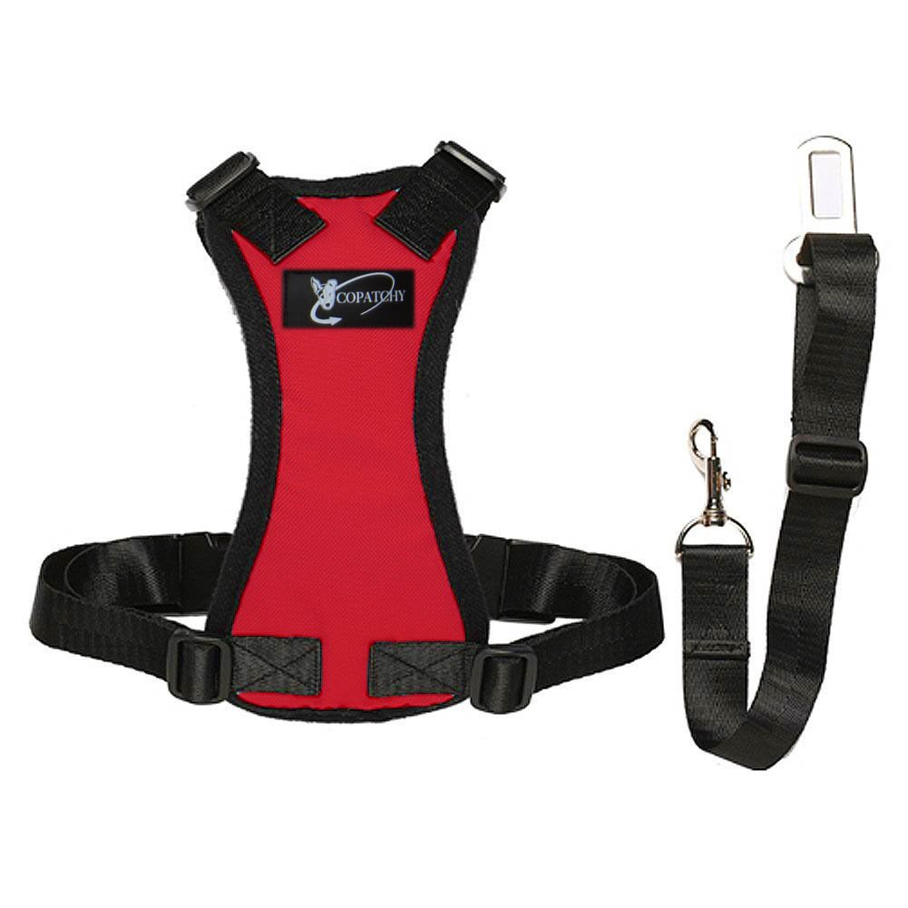 Red Small Red Small Copatchy Dog Seatbelt Harness (Small red)