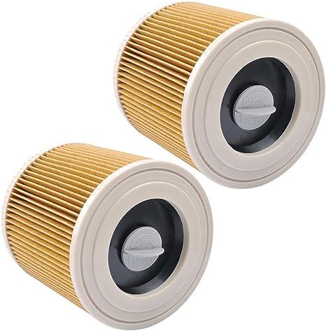 KEEPOW Filtros de Cartucho Lavables y Reutilizables para Aspiradora Kärcher WD2 / WD3 / MV2 / MV3 / WD 2.200 / WD 2.500 M/WD 3.200 / WD 3.300 M/WD 3.500 P/SE 4001 / SE 4002, 2 Pack: Amazon.es: Grandes electrodomésticos