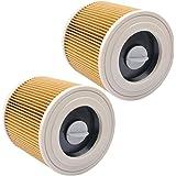 KEEPOW Filtros de Cartucho Lavables y Reutilizables para Aspiradora Kärcher WD2 / WD3 / MV2 / MV3 / WD 2.200 / WD 2.500…