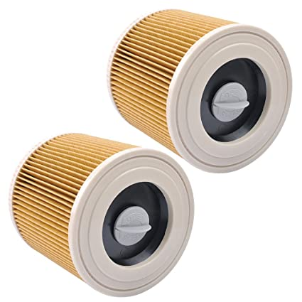 Filtros de Cartucho Lavables y Reutilizables para Aspiradora Kärcher WD2 / WD3 / MV2 / MV3 / WD 2.200 / WD 2.500 M / WD 3.200 / WD 3.300 M / WD 3.500 ...