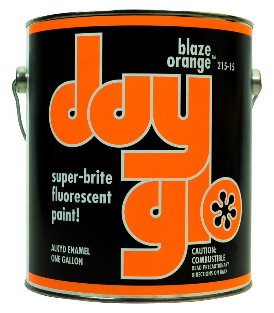 DayGlo Fluorescent Solvent-Based 215 Series Brushing Enamel Paint (Quart, Blaze Orange, 215-15)