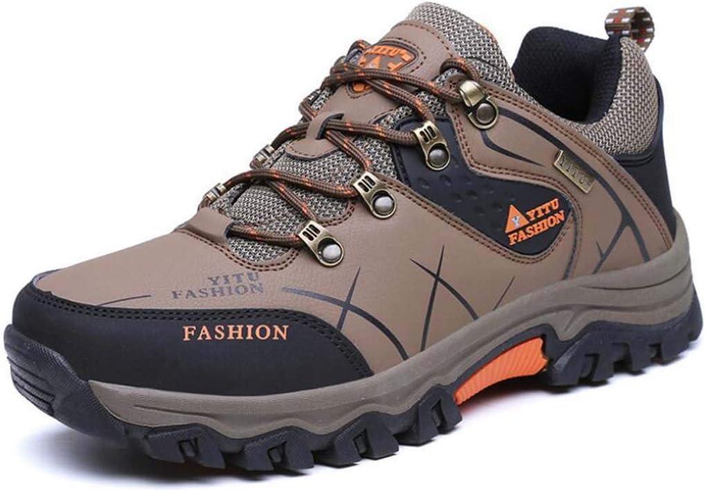 Orange  MSSugar Herren Wanderschuhe Anti-Rutsch-Trainer Trekkingstiefel Wasserdicht Atmungsaktiv Leichte Schuhe Outdoor zum Wandern Laufschuhe