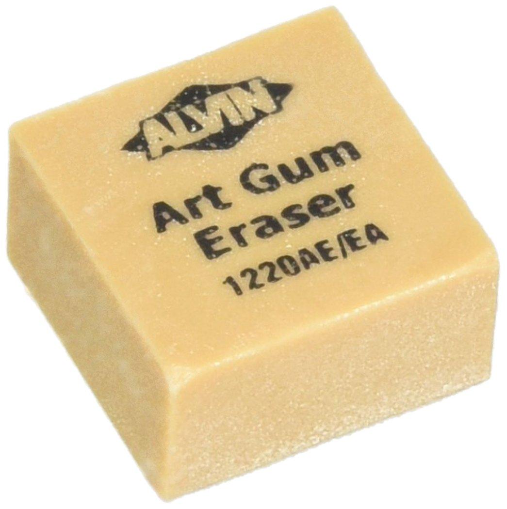 Alvin 1220AE 24/Box 1'' x 1'' x 3/4'' Art Gum Erasers by Alvin