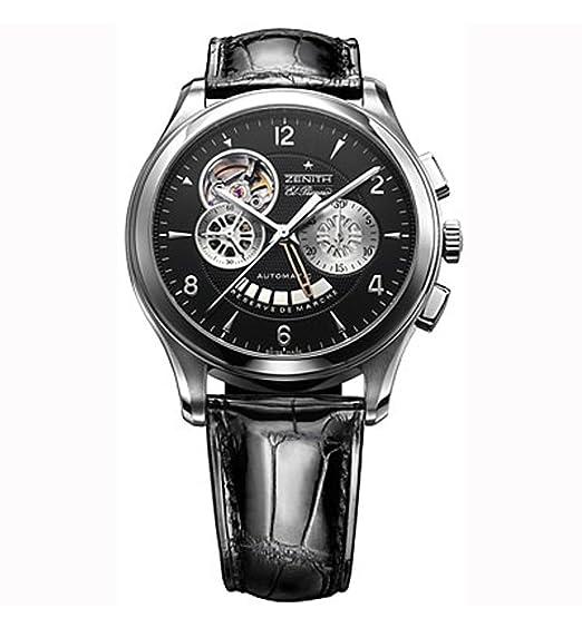 Zenith 03.0520.4021/22.C492 - Reloj de Pulsera Hombre, Cuero: Amazon.es: Relojes