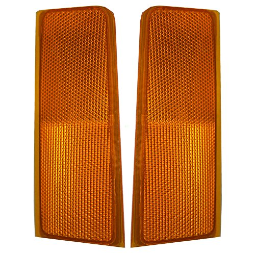 (Driver and Passenger Signal Side Marker Lights Replacement for GMC Chevrolet Pickup Truck SUV 5974341)