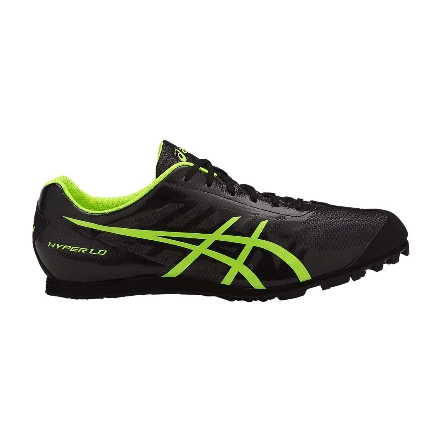 ASICS Men's Hyper LD 5 Track and Field Shoe - G404Y.9007 (Black/Safety Yellow - 11.5)
