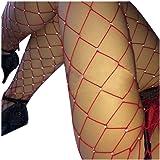 FORH Damen Sexy Overknee Fischnetz Strumpfhosen Sparkle Strass Hohe Taille elastische Große Strümpfe Netzstrumpfhose Erotic Oberschenkel Strumpfhosen Socken