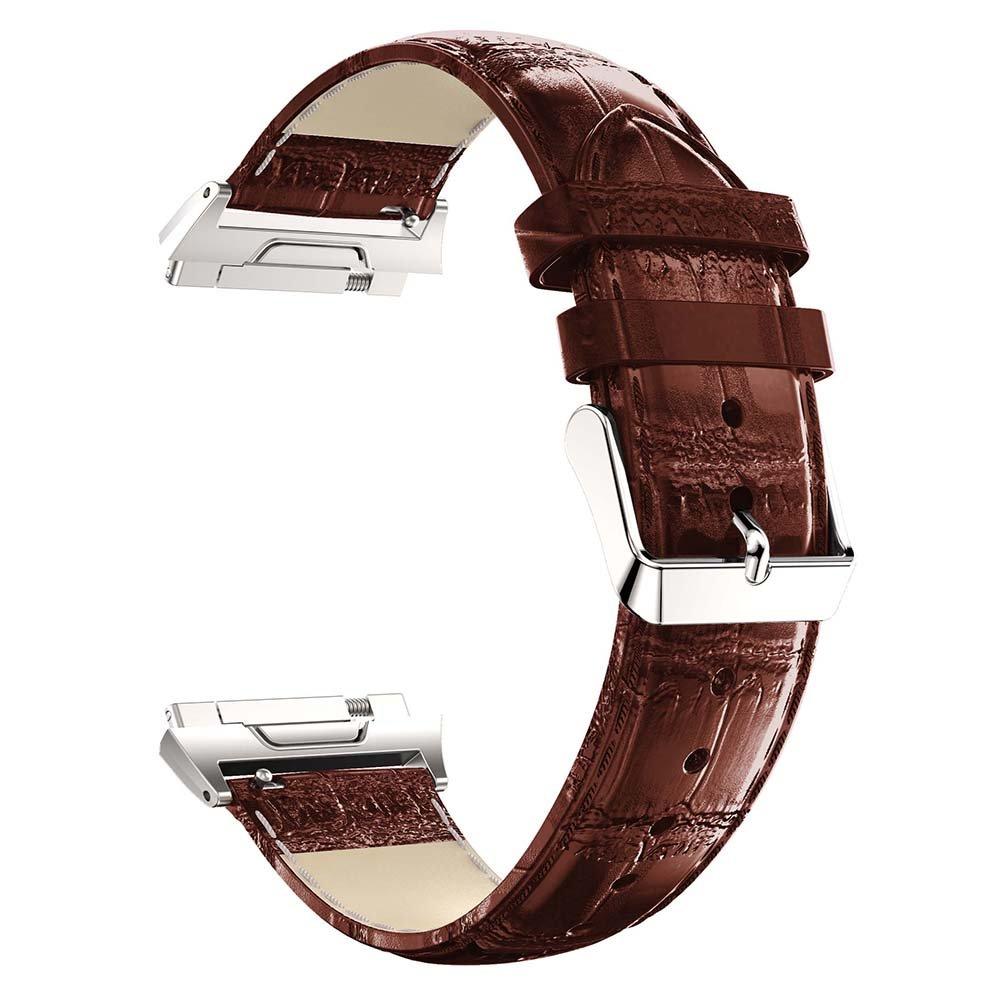 バンドfor Fitbit Ionic、最新純正レザー交換用時計バンドリストバンドブレスレットストラップfor Fitbit Ionic Smart Watch  ブラウン 5.5 8.1 Inches wrist B07842SQFQ