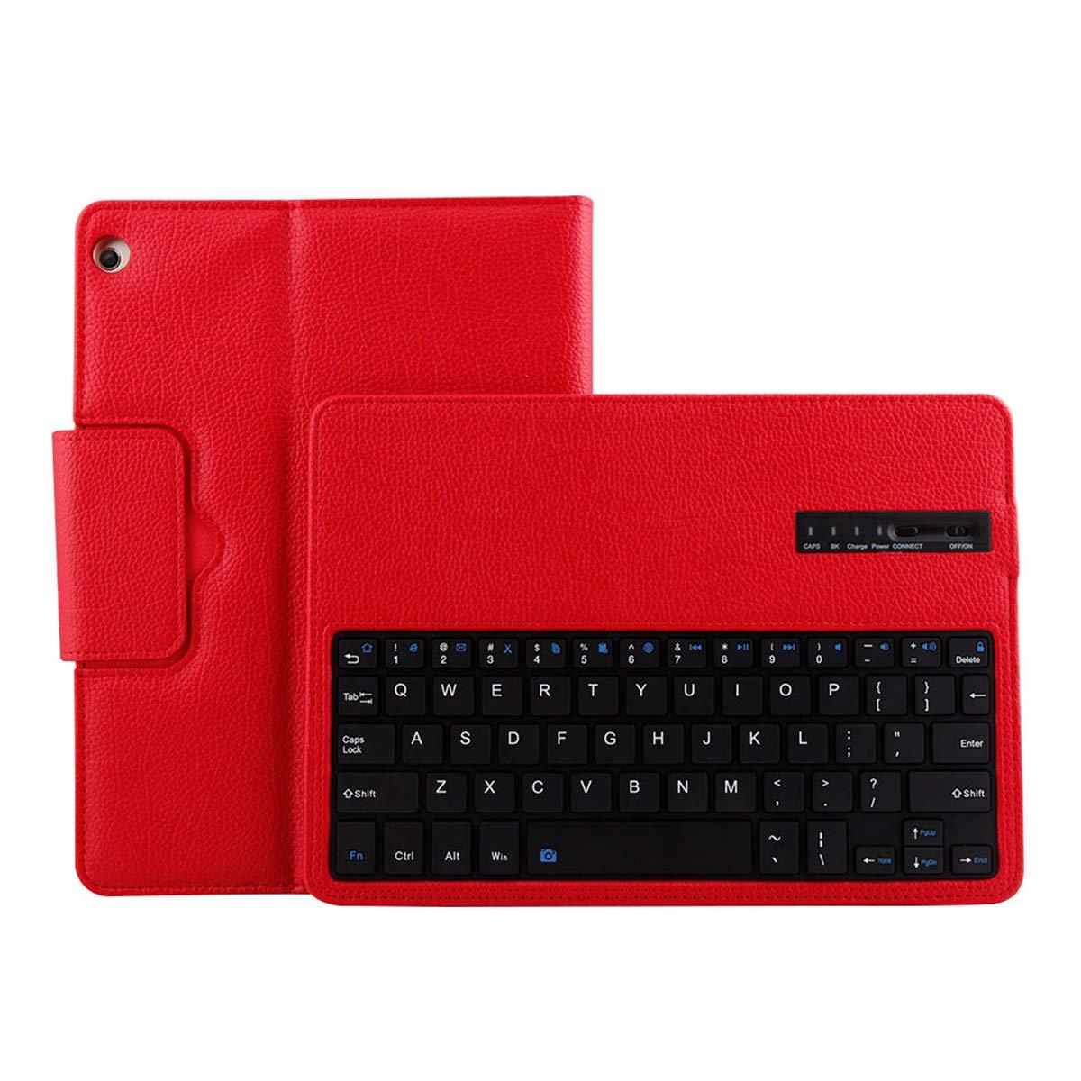 激安通販の Happon Huawei O3Y4-ON-864 Mediapad M3 Lite 10.1インチキーボードケース スリム軽量スタンドカバー レッド 磁気取り外し可能ワイヤレスキーボード付き レッド Huawei Mediapad M3 Lite 10.1インチに対応 レッド O3Y4-ON-864 レッド B07KWQLBT4, 池田屋:d78a04a4 --- a0267596.xsph.ru