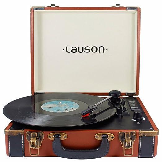 8 opinioni per Lauson CL605 Giradischi Vintage Bluetooth Vinyl Transport, Portatile a Forma di