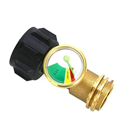 MENSI BBQ Grill Spare Parts Universal Propane Tank Adapter with Gauge/Leak Detector for QCC1