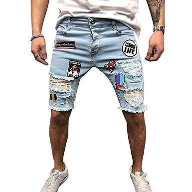 Pantalones Vaqueros De Los Hombres Longitud De La Rodilla ...
