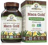 NutriGold #1 Organic Maca Root Powder Capsules – Maca Gold, 500 mg, 180 Plantcaps – GMO-free, Preservative-free, Gold Standard Peruvian Maca Root Pills