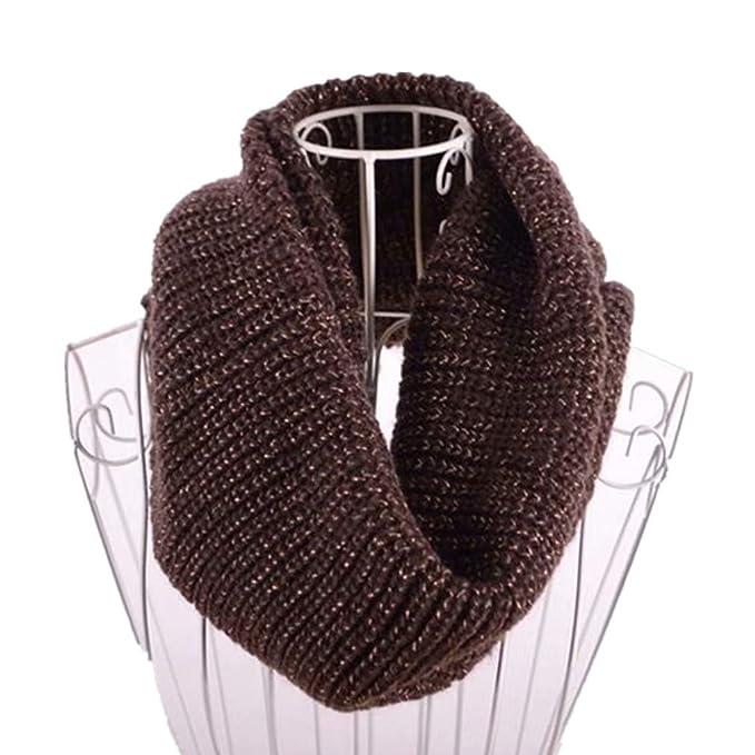 klassischer Stil Designermode Neueste Mode Damen Strick Schal, TheBigThumb Solid Color Infinity Schals gerippt Winter  Circle Loop Schal für Frauen Männer Mädchen
