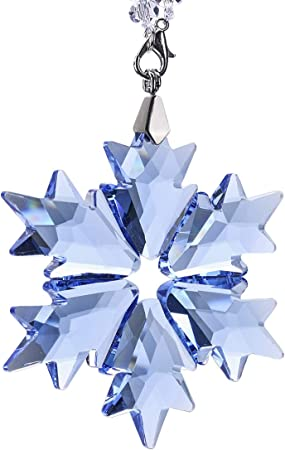 2018 1PCS New Black Crystal Glass Snowflake ornament Charm Pendant Party Decor