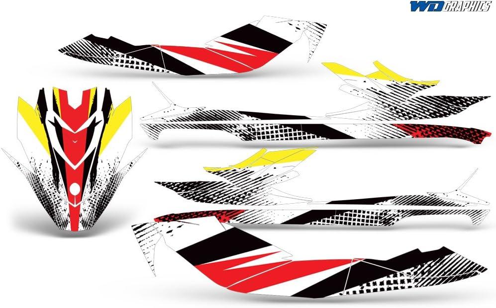 Wholesale Decals SeaDoo Bombardier GTI SE130 2011-2014 Full Jet Ski Graphics Kit Bold Race Design