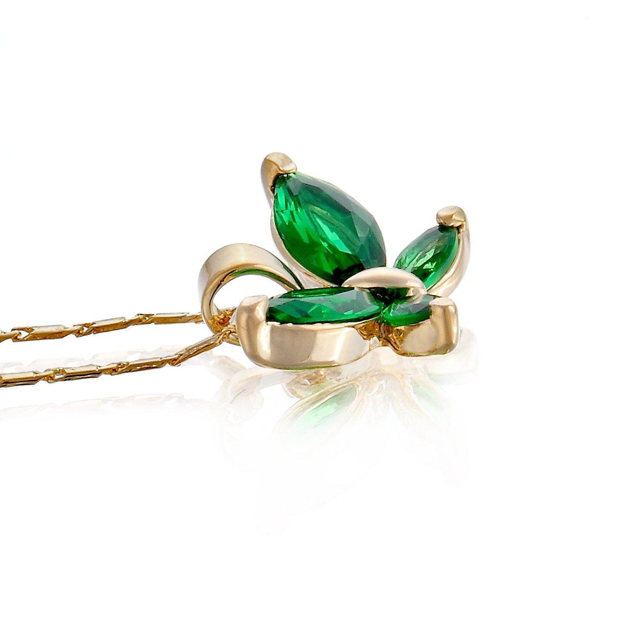 Janeo gioielli 14/K oro o argento placcato rodio farfalla collana e orecchini set