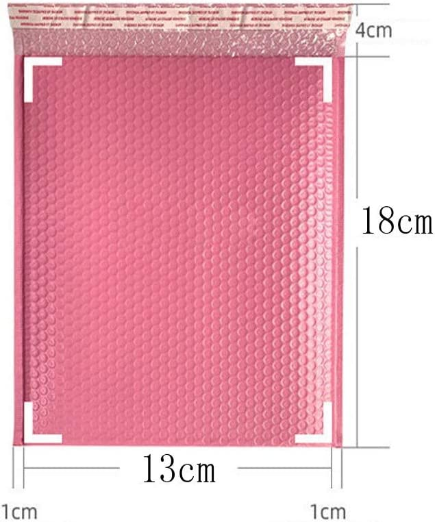 color rosa 50 sobres acolchados de burbujas impermeables