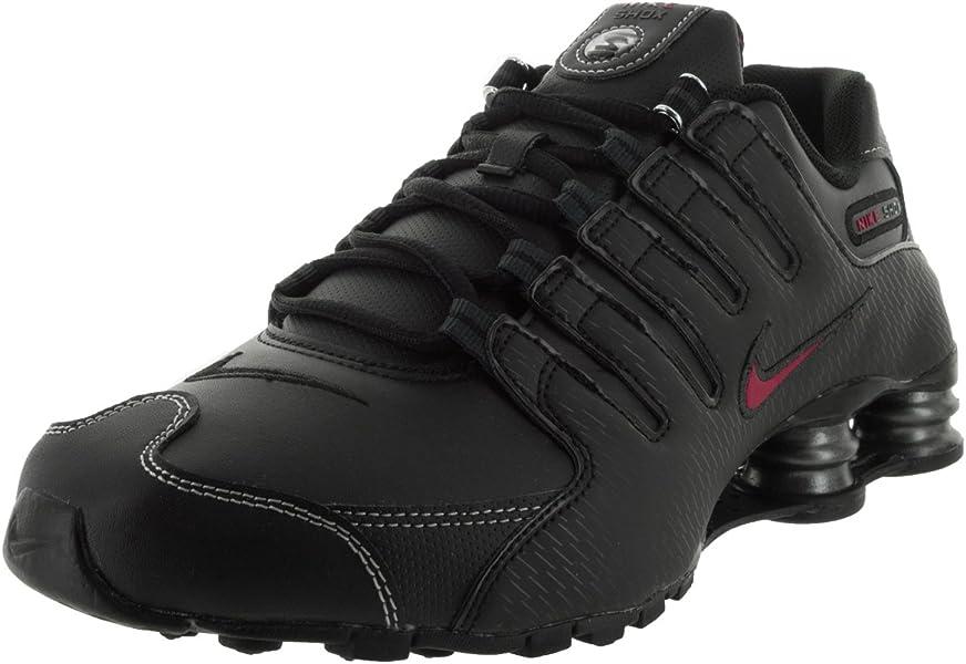 new concept 7e223 a17f4 Amazon.com   Nike Men s Shox NZ Running Shoe Black Varsity Red White ...