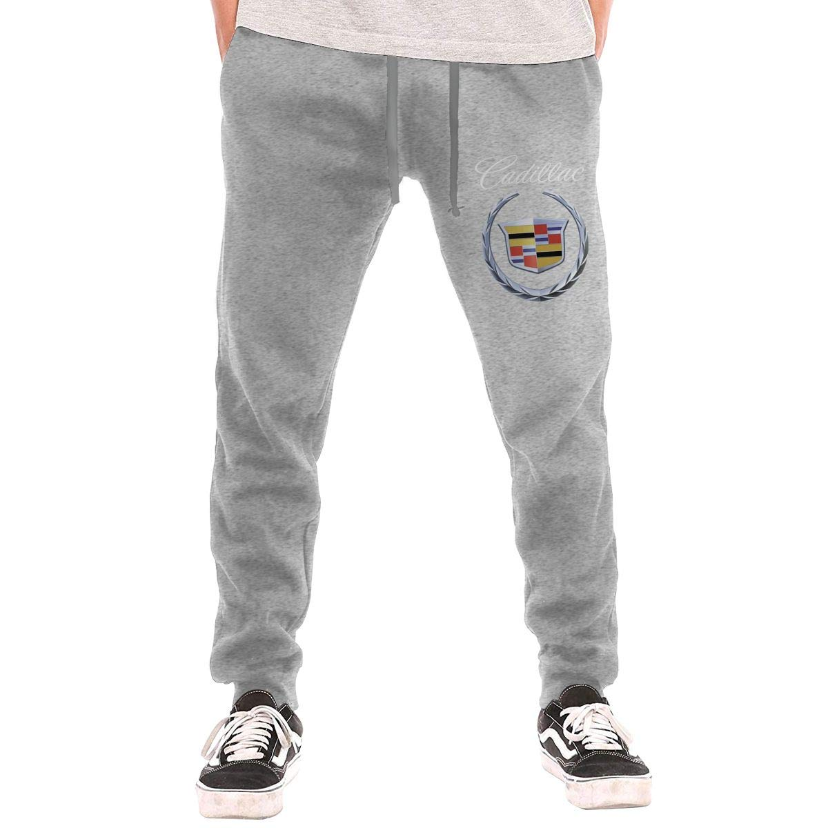 Syins Mens Personalized Cadillac 2000 Logo Cool with Pockets Training Sweatpant Black