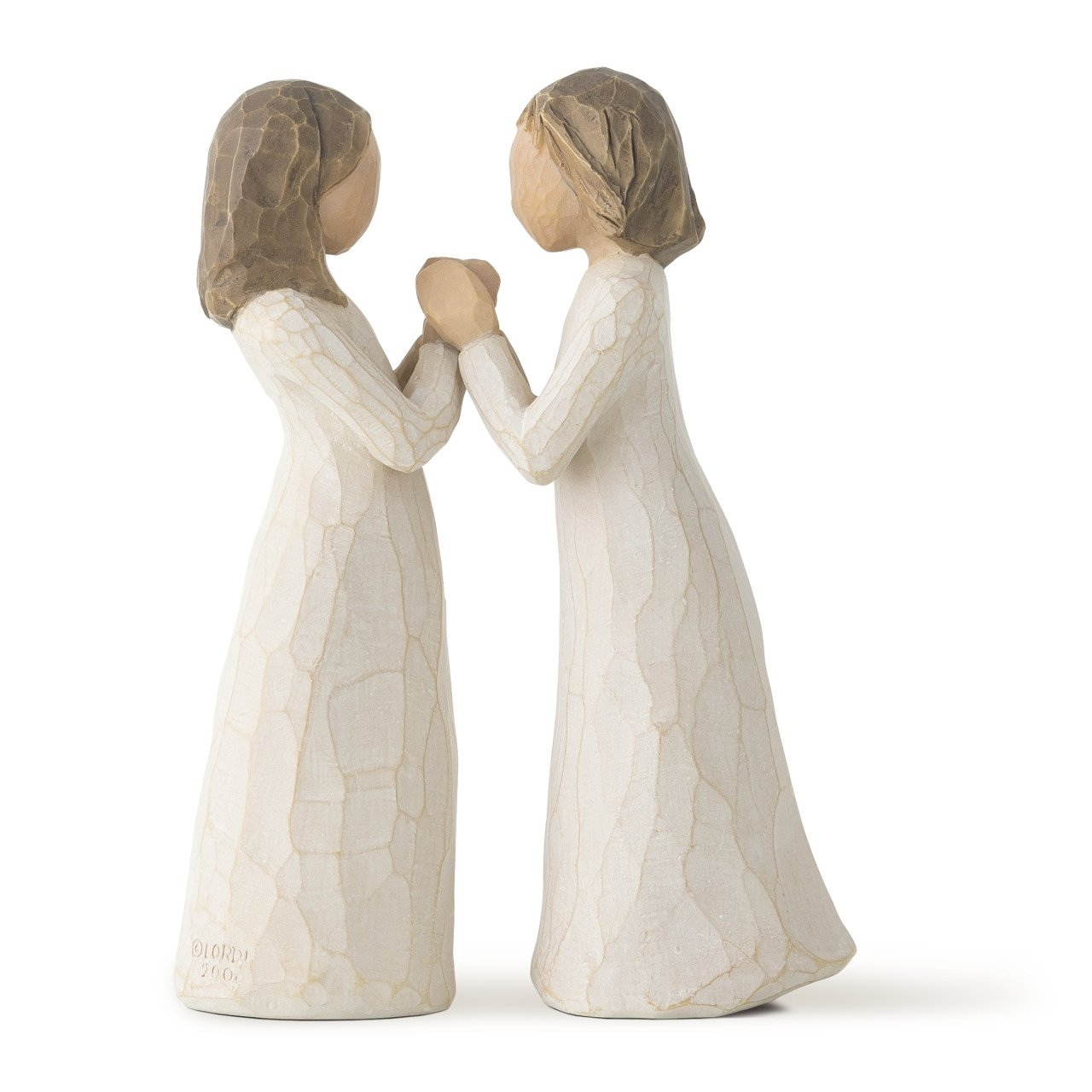 Willow Tree hand-painted sculpted figure, Sisters Heart, 2-piece set (26023)
