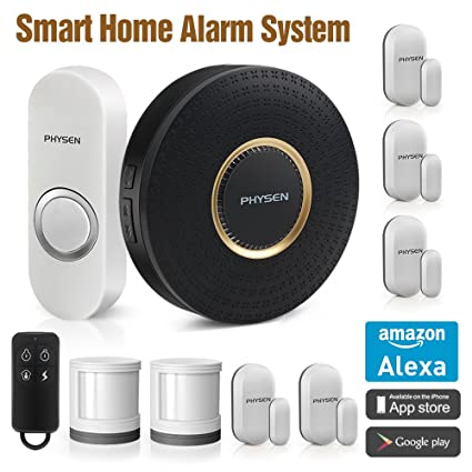 PHYSEN inalámbrico Smart Home sistema de alarma de seguridad con sensor de movimiento 1 Smart Wifi
