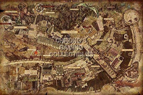 CGC Huge Poster - Dark Souls PS3 XBOX 360- Map - DSS004 (24