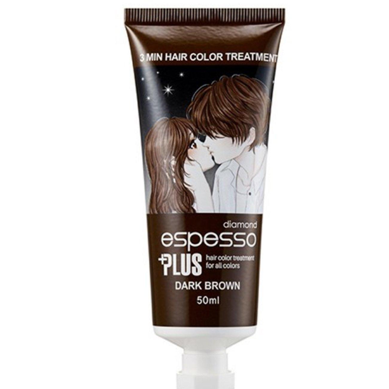 Hair Manicure Polish Color ESPESSO PLUS 50ml Diamond Powder Dark Brown Coating with Color K-Beauty MI Korea Intercos