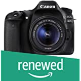 Canon EOS 80D Digital SLR Kit with EF-S 18-55mm f/3.5-5.6 Image Stabilization STM Lens (Black) (Renewed)