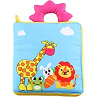 KAKIBLIN Baby Clothes Book, Soft Baby Books Non-Toxic Fabric Crinkle Paper Activity Soft Books for Babies, Toddlers, Educational Toys, Giraffe