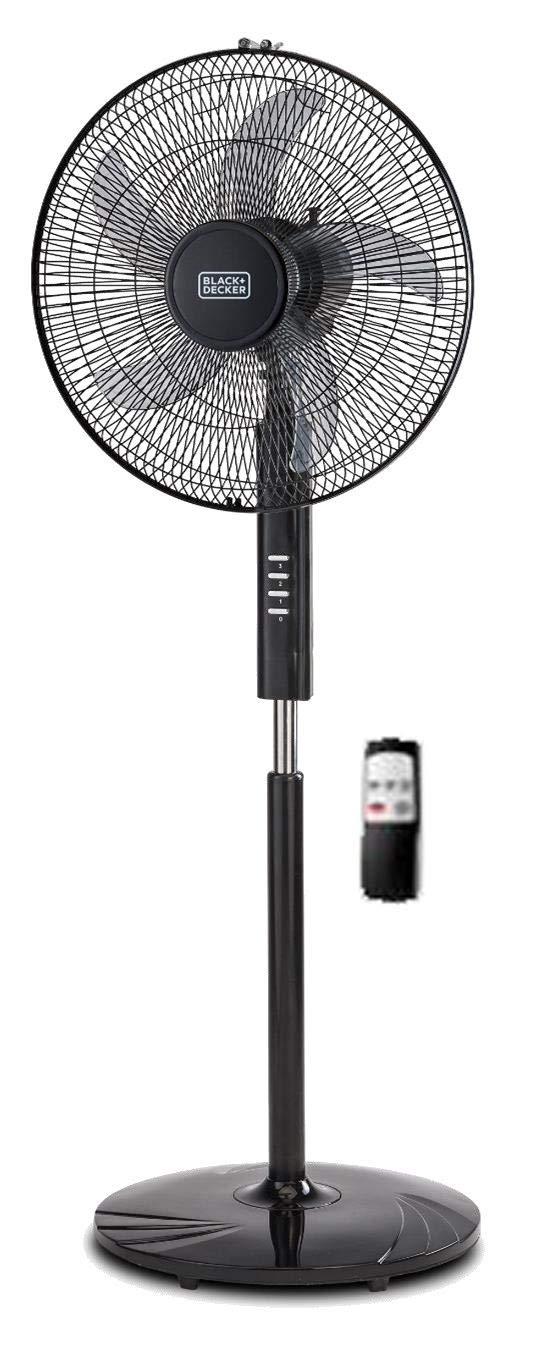 BLACK DECKER FS1620R 16-Inch Stand Fan with Remote, 220V Non-USA Compliant