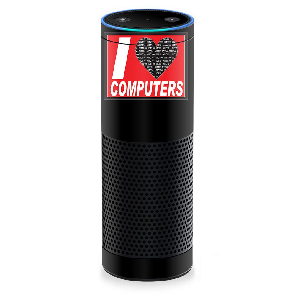 MightySkins Skin For Amazon Echo - Love Computers | Protective, Durable, and Unique Vinyl Decal wrap cover | Easy To Apply, Remove, and Change Styles | Made in the USA