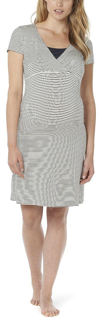 Noppies Damen Umstands Nachthemd Dress mit Stillfunktion 20580