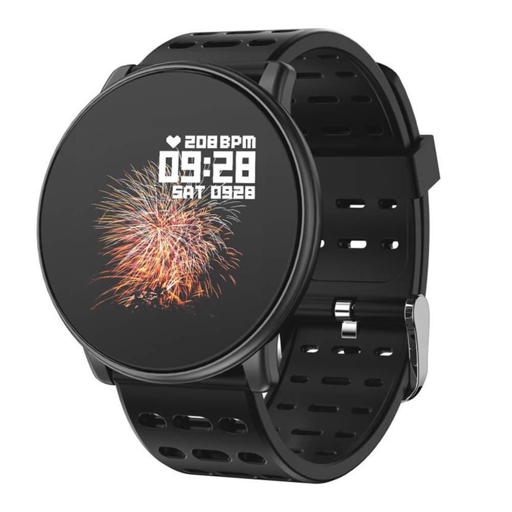 Black Bullker Q88 Sports Smart Bracelet Blood Pressure Heart Rate Monitor Fitness Tracker