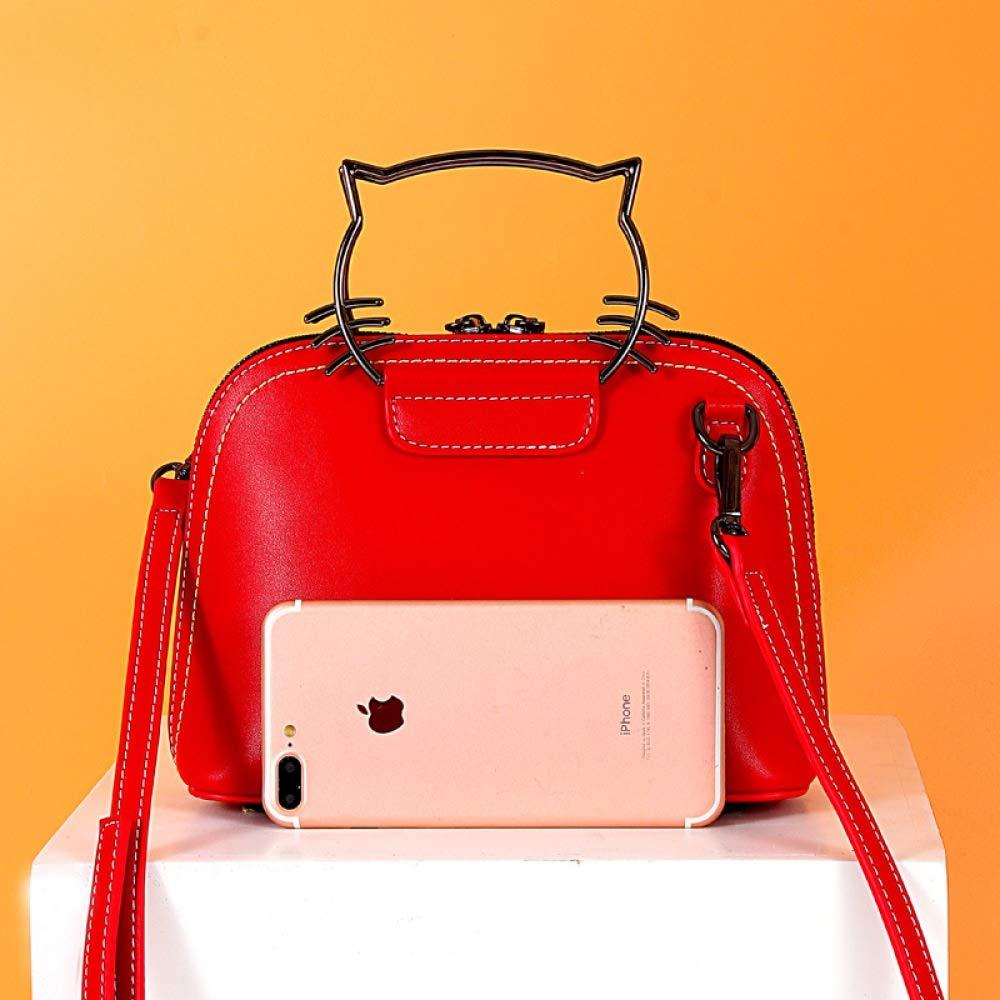 Öl Wachs Leder Damen Schultertasche Mädchen Rucksack Handtasche Student Diagonal Diagonal Diagonal Bag (Farbe   rot, größe   23  8  17cm) B07PHRJLV8 Schultertaschen Neuer Eintrag 0936b1