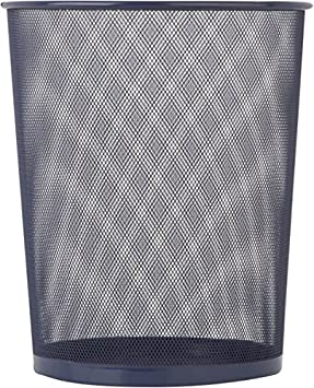 18-Liter//4.7-Gallon Capacity Honey-Can-Do TRS-02101 Steel Mesh Powder-Coated Waste Basket 11.75 x 14-Inches Tall Silver