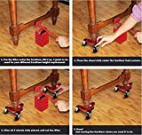 HutHomery Furniture 3 Wheel Mover's Dolly, 6-Inch Steel Tri-Dolly, Easy Moving System for Bulky & Heavy Loads in Home, Office or Warehouses - 9 Pack 880-lbs Load Capacity