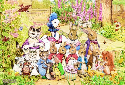 1000 piece jigsaw puzzle Peter Rabbit fun companion (49x72cm)